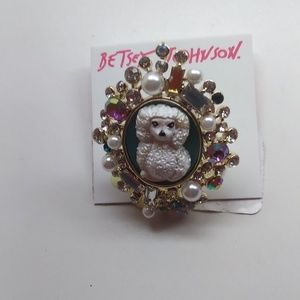 Betsey Johnson New Poodle Cameo Ring
